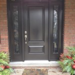 steel front door and sidelights