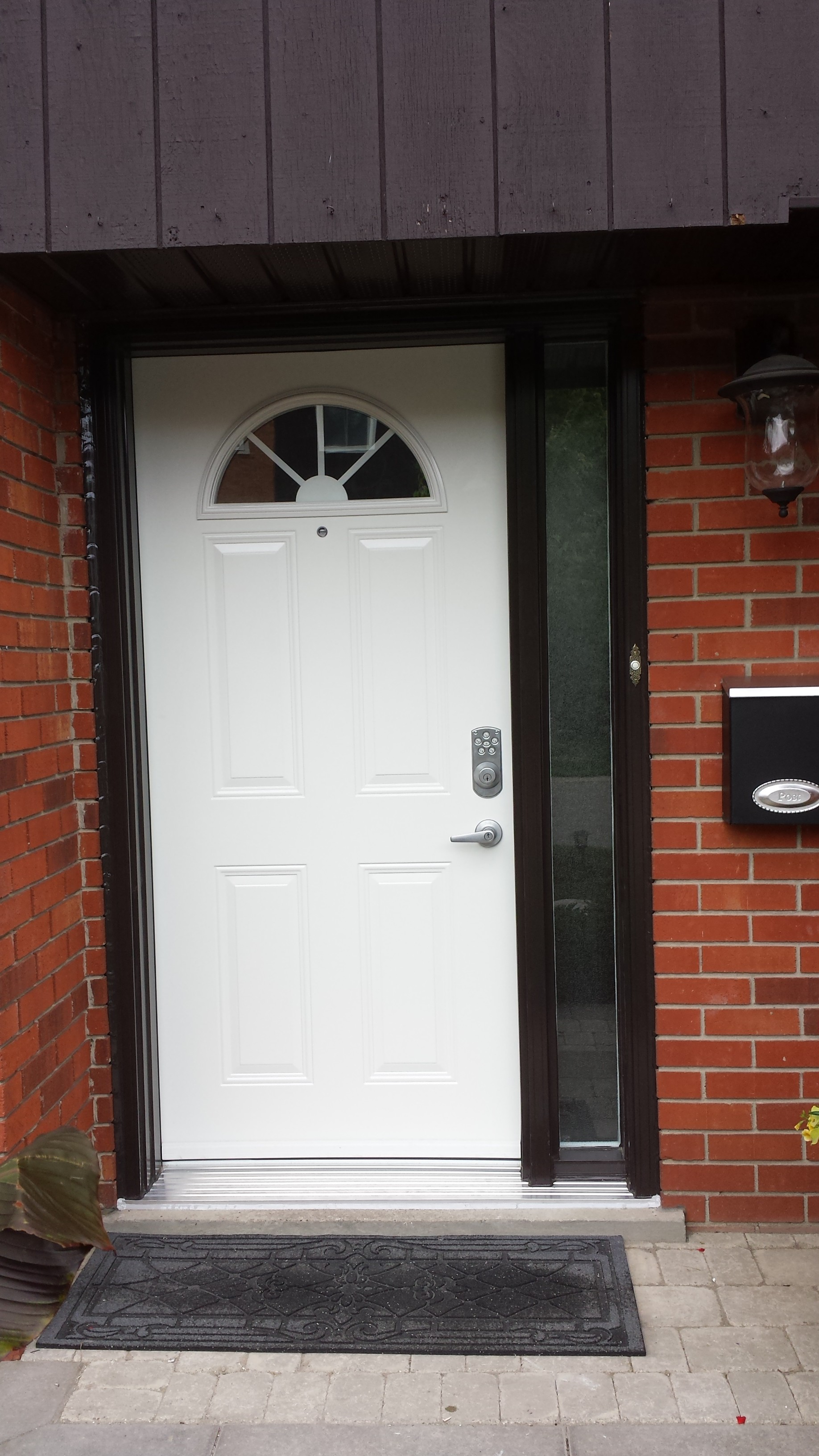 new steel front door