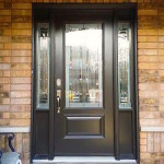 steel front door with sidelights