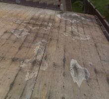 Roof sheathing damage