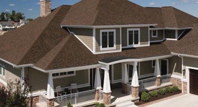 brown roof shingles