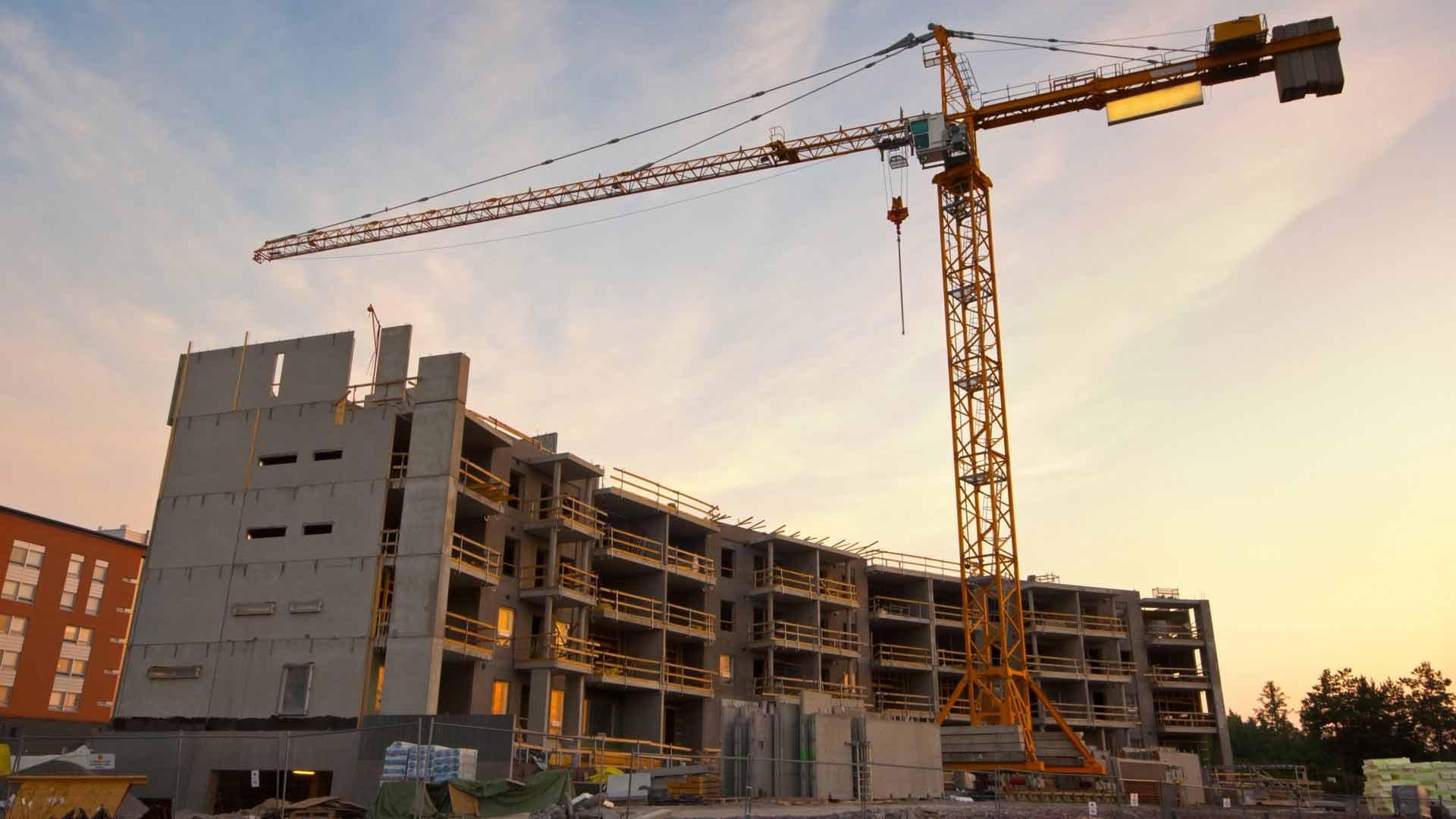 Commercial-construction Crane